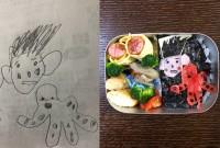 """幼稚園児の娘の絵を完全再現…""""究極のキャラ弁""""披露するザ・ギース尾関「弁当作りで成長見える」"""