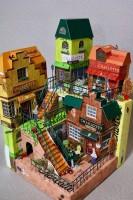 『シャルロッテ』の箱でできた街に50万いいね!、空き箱職人明かす手法「脳内完成図がたより」