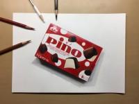 """「え、食べられる?」ほぼ本物な""""ピノ""""色鉛筆画が混乱呼ぶ、17歳の作者明かすこだわり"""