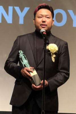 『2019年 JASRAC賞』贈呈式の様子、金賞を受賞した安室奈美恵さん「Hero」の作詞・作曲を手がけたSUNNY BOY氏