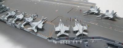 作品:アメリカ海軍航空母艦キティホーク※『モデルアート』掲載