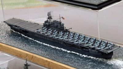 作品:1/700アメリカ海軍航空母艦「ヨークタウン」 ※「艦船模型スペシャル No70」掲載作例