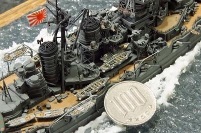 作品:1/700戦艦「金剛」の細部※「艦船模型スペシャル No73」掲載作例