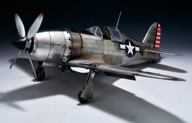 作品:米軍に接収され「ジャック」という名に変えられた旧日本軍局地戦闘機「雷電」/制作:亀人