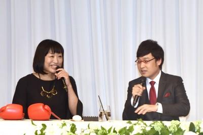2人の結婚を全力で祝福するしずちゃん(C)ORICON NewS inc.
