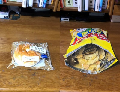 あんぱん(左)、ポテトチップス(右)画像提供:みやかわさん