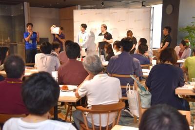 参加者から多くの支持を集めたアイデアの立案者が登壇してプレゼンも行った