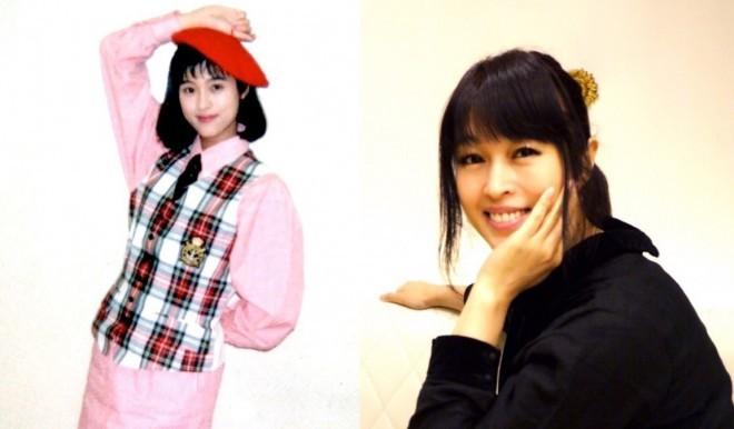1991年頃、Mi-Ke時代の宇徳敬子(左)と51歳現在の姿