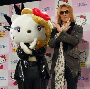 ロックバンド・XJAPANのYOSHIKIとの人気コラボキャラ「Yoshkitty」