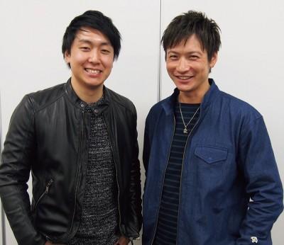 Norio Nakagawa氏(左)とYuki Akiyama氏(右)。日向坂46、嵐、THE RAMPAGE from EXILE TRIBE、FTISLANDなどを手がけた