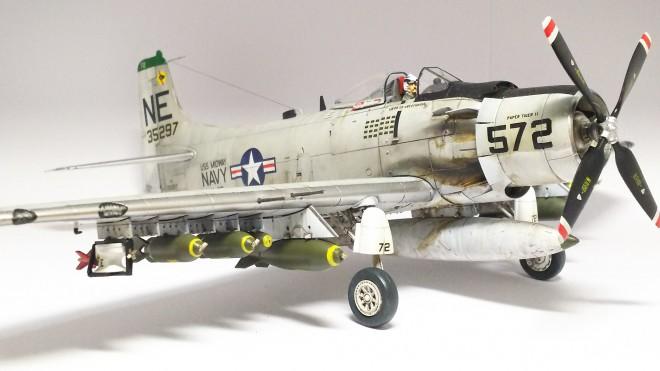 1/48 A-1H スカイレイダー 特別爆弾搭載機/制作:空探