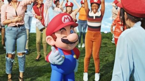 『SUPER NINTENDO WORLD』ミュージックビデオに登場するマリオ(C)Nintendo