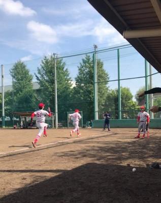 竹財さんの野球風景