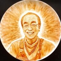 """志村さん描いた超絶技巧アートに1300万再生、チョコに込めた""""愛""""「優しい笑顔を表現したくて…」"""