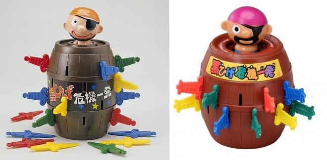 左/黒ひげ危機一発ゲーム(1975年/初代) 右/黒ひげ危機一発(2011年/6代目) 画像提供/タカラトミー