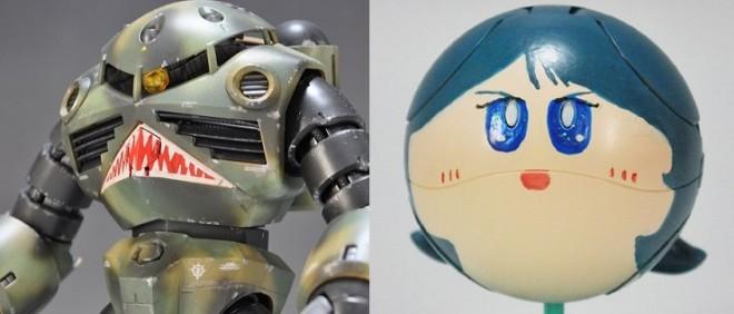 (左)作品:ズゴック(迷彩塗装タイプ) (右)作品:カミーユハロ/ 制作・画像提供:さのすけ(C)創通・サンライズ