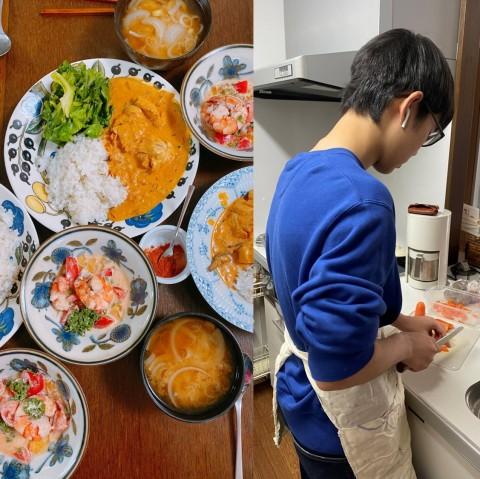 「裏ごしってどうやるの?」高1息子が予算1000円で夕飯作り、自粛期間56日後に驚きの上達ぶり