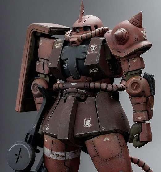 HG 機動戦士ガンダム THE ORIGIN シャア専用ザクII 制作・画像提供/ろろ氏 (C)創通・サンライズ