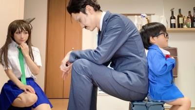 """蘭姉ちゃんコスプレをする奥様の髪形にも反響が。ファンの間では""""ツノ""""と親しまれる(画像提供:みかんくん)"""