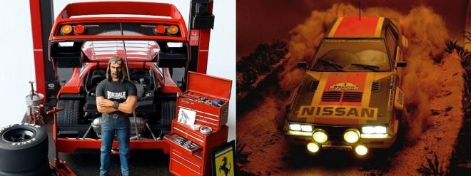 (左)Born to Run 制作・画像提供/Sho_taro氏 (右)日産 240RS 1983ニュージーランドラリー 制作・写真提供/kunny氏