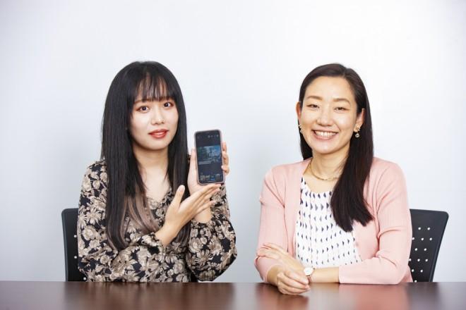 (左から)YouTuberの橋本からあげ、アドビの田中玲子さん