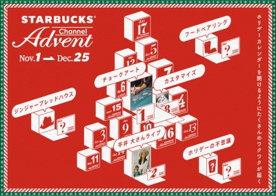 現在開催中の「STARBUCKS Advent Channel」