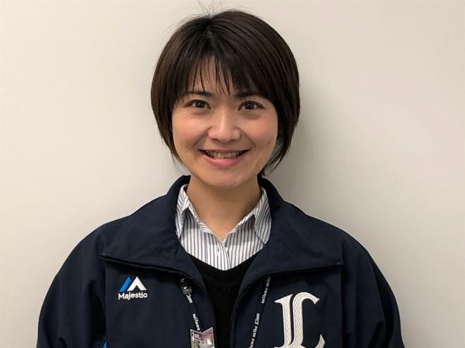 埼玉西武ライオンズ事業部・鈴木あずささん 写真提供/埼玉西武ライオンズ