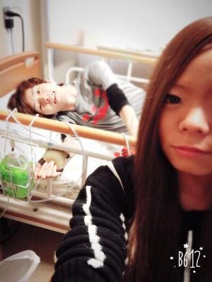 入院当時のならちゃん(画像提供:ならちゃん)