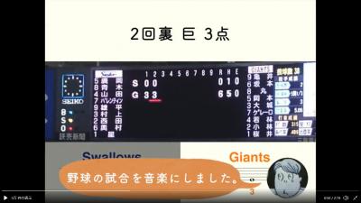 野球の試合も音楽にする貪欲さ!(画像提供:西村直晃さん)