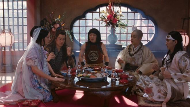 (左から)菜々緒、桐谷健太、濱田岳、岡山天音、松田翔太