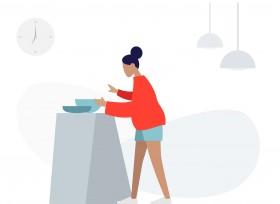 料理で手が離せない時、Siriでテレビを操作