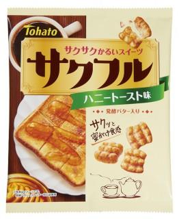 【サクフル・ハニートースト味】 風味豊かなシナモンと後引くアーモンドの香り、発酵バターのコク深い味わいを楽しめる。