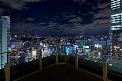 渋谷の夜景も一望