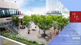 東急プラザ渋谷に、圧倒的解放感で音楽とお酒が楽しめる空間『CE LA VI SKY MUSIC TERRACE』オープン