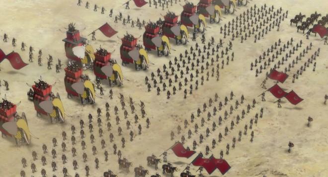 巨大な象を率いる侵略者・アブラハ軍