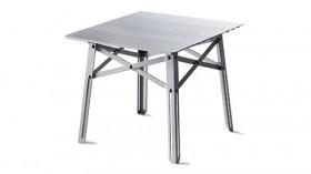 天板に支柱入りだから安定感抜群!高さのあるオンウェーの折り畳みテーブル