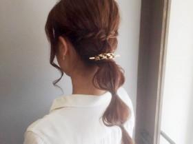 重ためロングヘアを軽く見せる。髪を引き出すだけで作れる玉ねぎヘアスタイル