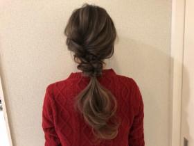 くるりんぱと三つ編みでできる、おしゃれ可愛いヘアアレンジ