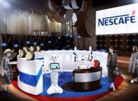 ロボットだけの「無人カフェ」 受注から抽出、受け渡しまでロボで