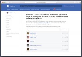 Facebook、ロシアプロパガンダ企業への「いいね!」を確認するツール追加へ