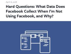 Facebook、非ユーザーの情報も収集していることについて「GoogleやTwitterもやっている」