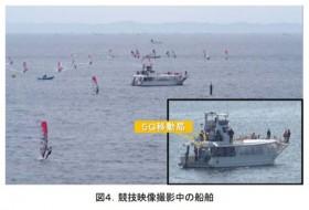 マリンスポーツの4K映像、5Gで伝送 ドコモが海上実験