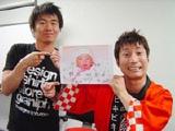 ビッキーズの木部信彦(左)と第1子が誕生した須知裕雅(右)