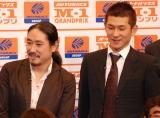 『M-1グランプリ2007』のプレス発表会に出席した笑い飯