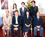 (左上から)華城季帆、市川笑也、吉野圭吾、加藤和彦(音楽担当)、市川段治郎、貴城けい、岡本さとる(作・演出)