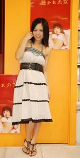 DVD『聴かれた女』(8月3日発売)の発売記念イベントを行った蒼井そら
