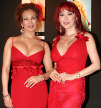 6月19日、ディータ・ヴォン・ティース来日イベントに出席した叶姉妹