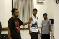 左よりUSA、AKIRA、MATSU