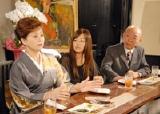 (左より)かとうかず子、夏川純、坂田利夫