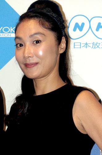 NHK土曜ドラマ『ジャッジ 島の裁判官奮闘記』の記者会見に出席した浅野温子